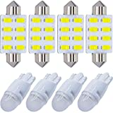 Yoper White Interior LED Light Package Kit Compatible with Ford F-150 1997-2014 F-250 F-350 F-450 F-55 2000-2014 Replacement Bulbs 12pcs