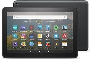 """Tablette Fire HD 8, écran HD 8"""" (20,3 cm), 32 Go (Noir), Sans publicités"""