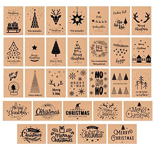 Edition Seidel Set 30 Weihnachtspostkarten Kratfpapier Weihnachten Karten Postkarten Weihnachtskarten
