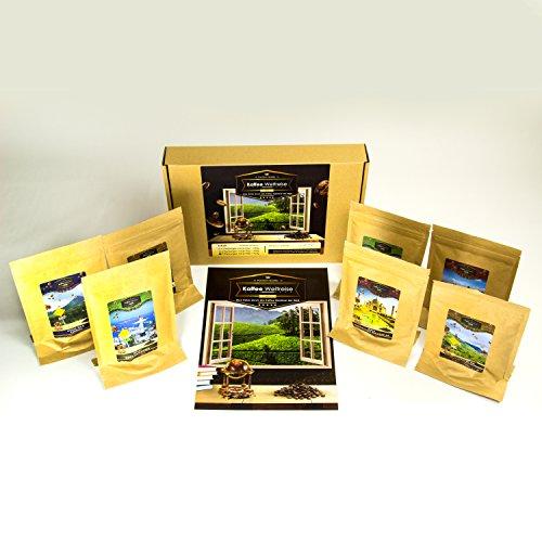 Koffiegeschenkset (7x7 kopjes) | Leuk cadeau-idee voor dames en heren voor verjaardag I koffieset I gemalen koffie als een speciaal verjaardagscadeau
