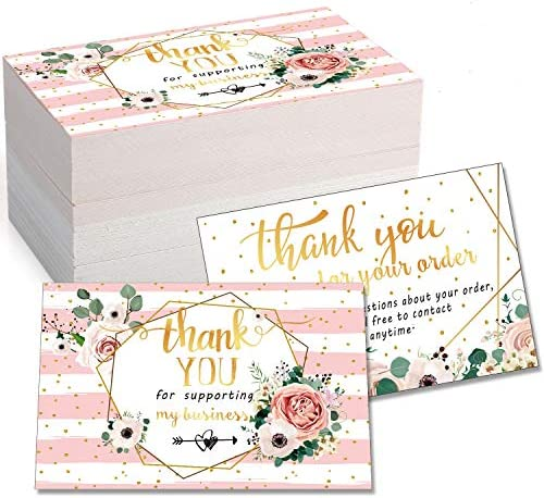 120 Mini Thank You for Your Order Business Cards Shopping Purchase Thanks Greeting Cards to product image