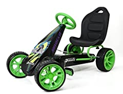 FUNCTION: This Pedal Go Kart provides an authentic driving experience and allows the driver to control their speed. Sirocco is designed to be the perfect pedal go kart for young drivers and can be used to ride both indoor and outdoor, encourages phys...