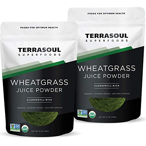 Terrasoul Superfoods Organic Wheat Grass Juice Powder, 10 Oz (2 Pack) - USA Grown | Made From Concentrated Juice | Superior to Wheatgrass