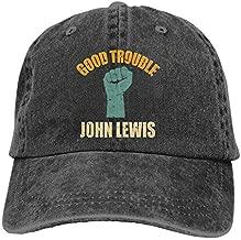 John Lewis Good Trouble Casquette Printed Trucker Cap Headgear Black