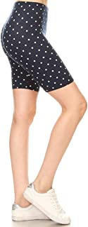 Leggings Depot Women's Ultra Soft Printed Fashion Biker Shorts