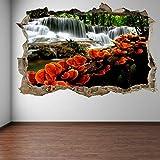 MXLYR Pegatinas de pared Cascada naranja setas árboles pared arte pegatina mural pegatinas decoración del hogar