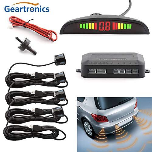 Find Discount Black : Car Auto Parktronic LED Parking Sensor with 4 Sensors Reverse Backup Car Parki...