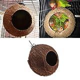 LIIYANN Bird Parrot Nestle Jaula de Cadena Colgante Natural Toy Swing House el Calor de la Primavera