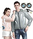 Cooling Vest Air Conditioned Jacket Fan Cool Vest for Men Women Sun Protection for Working,Fishing,Outdoor Activities…