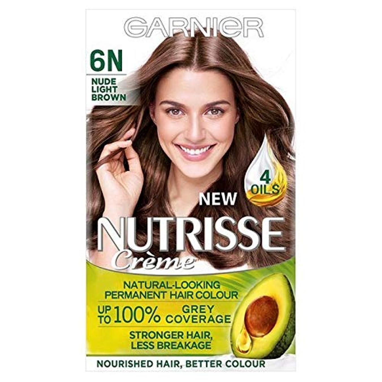 デマンドモニター航空[Garnier ] ガルニエNutrisseヌード染毛剤6.132ライトブラウン - Garnier Nutrisse Nude Hair Dye 6.132 Light Brown [並行輸入品]