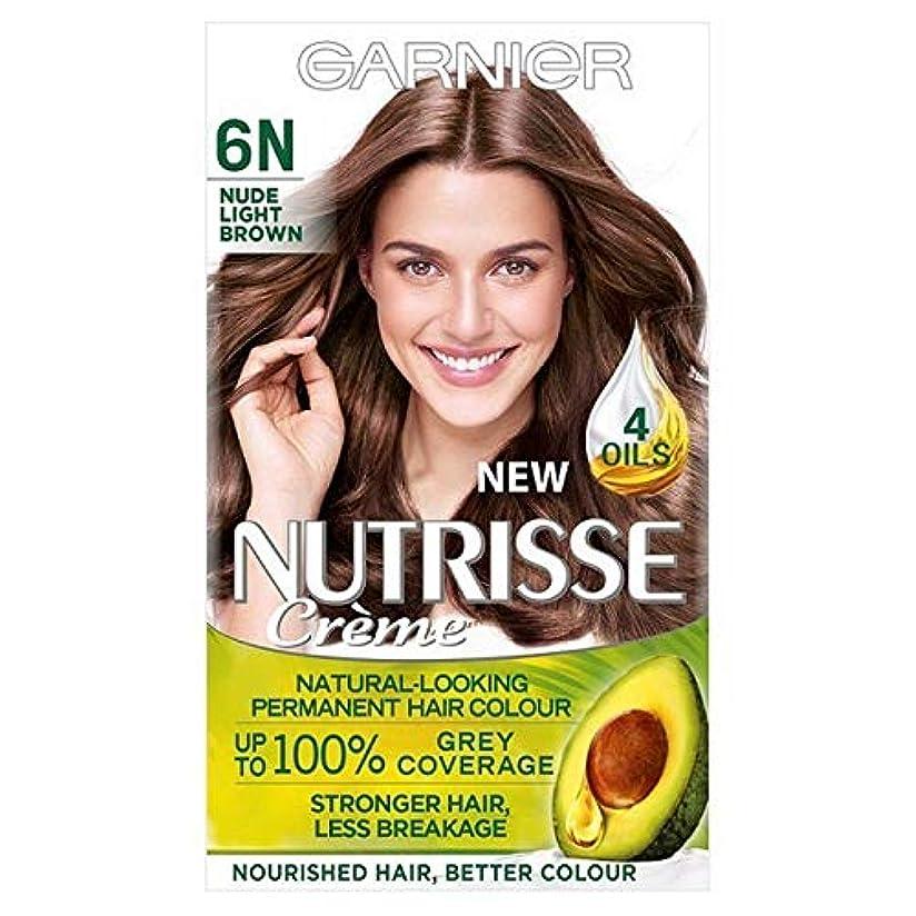かける証明する[Garnier ] ガルニエNutrisseヌード染毛剤6.132ライトブラウン - Garnier Nutrisse Nude Hair Dye 6.132 Light Brown [並行輸入品]