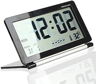 Tzou Multifunction Silent LCD Digital Large Screen Travel Desk Electronic Alarm Clock Date/Time/Calendar/Temperature Displ...