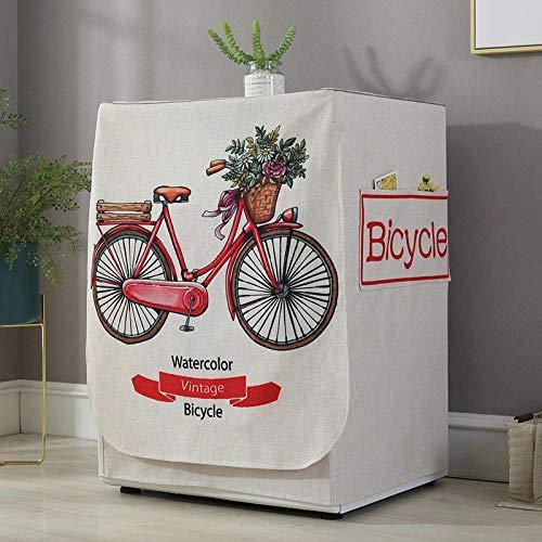 JRTILES Copertura Lavatrice per Esterno per Le Lavatrici&Asciugatrice Copri Lavatrice Crema Solare Anti-Ultravioletti Impermeabile Antipolvere Bicicletta Fiore 60X60X83Cm