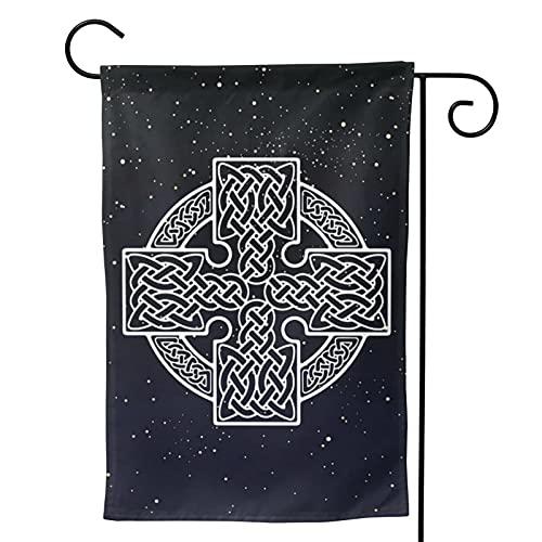 Square Celtic Cross Garden Flag