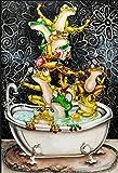 Fanxp Badefrosch Puzzle, Puzzle 1000 Stück, Für Erwachsene Kinder Dekompressionspuzzle Schöne Geschenke