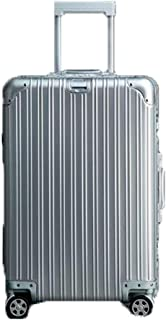 HPXCAZ Travel Case Hard Travel Bag Trolley Case Travel Storage Bag -20 Inches (Color : Silver, Size : 20 Inches)