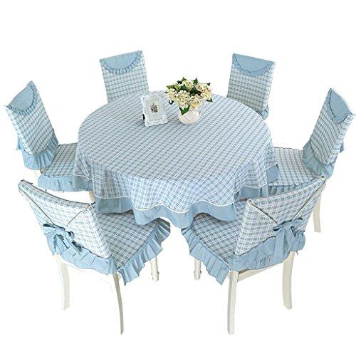 WYZ keuken tafelkleed rond tafelkleed, landelijk doek rond groot tafelkleed rooster eenvoudige eettafel doek