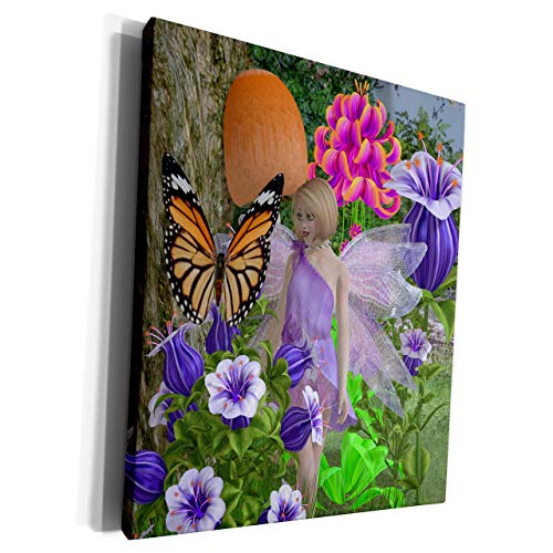 Scott397House Unframe Canvas Printing Wall Art 20x25 Renderly Yours Fairies Fairy Forest Garden Framed Canvas Art Picture Print Wall Decoration for Living Room/Bed Room