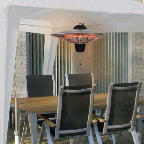 Koll Living Terrassen Deckenheizstrahler 1500W 3101-000 – 2 Stufen wählbar – Infrarot Heizstrahler zur Deckenmontage - 2