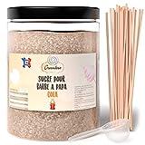 Greendoso- Zucchero Colorato per Zucchero Filato 1 Kg Cola, per Macchina Zucchero Filato + 50 Bastoncini da 30 Cm (Offerti) + 1 Cucchiaio Misura…