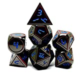 Dark Alpha Metal Polyhedral D&D Dice Set for RPGs