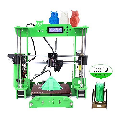 Aibecy TNICE MY2 Desktop RepRap i3 3D Printer DIY Kit ST Mainboard Integrated Extruder 2004 LCD Display Acrylic Frame with 100m PLA Filament Work with ABS PLA Wood