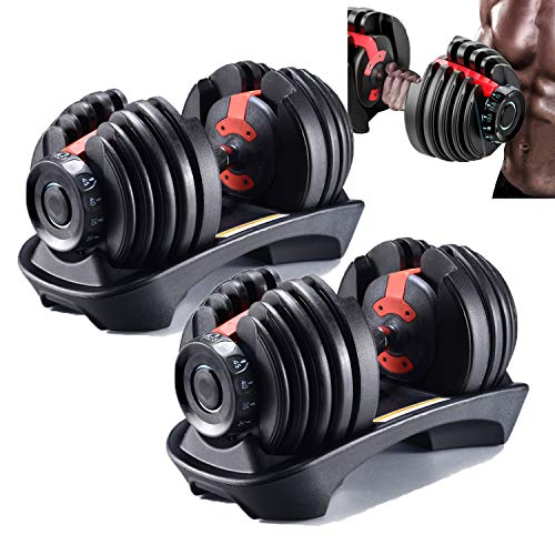 Adjustable Weights Dumbbell Set for Home Exercise Gym Workout Personal Muscle Trainer
