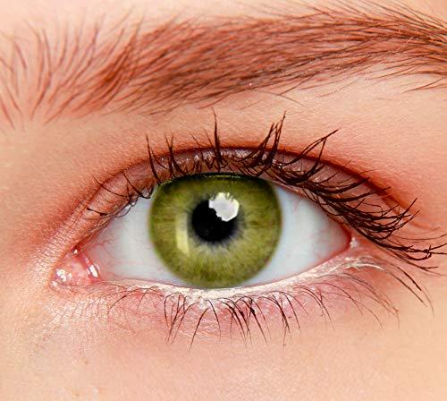 ELFENWALD farbige Kontaktlinsen, INTENSE, stark deckend, natürlicher Look (Honig)