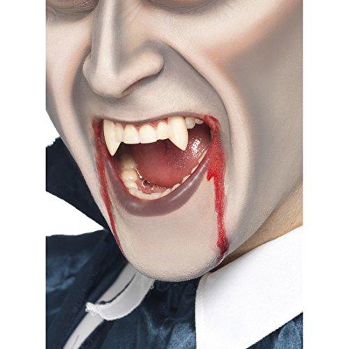 Amakando Dracula Zähne Halloween Vampireckzähne Vampirgebiss Falsche Zähne Vampir Aufsteckzähne Blutsauger Vampirzähne zum Aufstecken