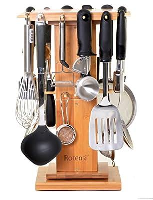 Rotensil Rotating Kitchen Utensil Organizer. Rotating Utensil Holder by