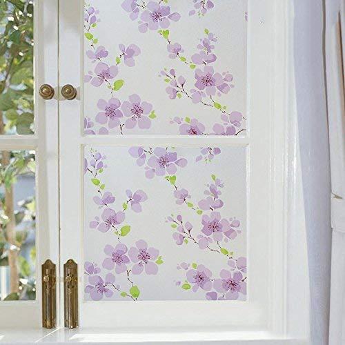 Emmala Raamsticker, verdikking, frosteerd, waterbestendig, zonwerend, licht, ondoorzichtig, venster, unieke sticker, 90 cm x 2 m, lang, vederboom