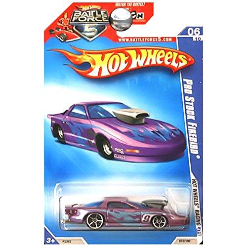 Hot Wheels 2009 HW Racing Pro Stock Firebird Pontiac Battle Force Five 5 Card Purple