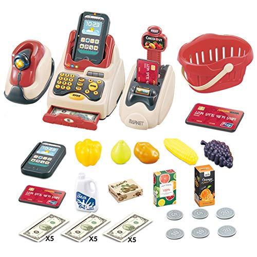 Dontdo 36 piezas de contador de caja de regalo para bebs y nios jugar casa juguetes mercado compras caja registradora tarjeta de crdito mquina nios jugar casa juguetes