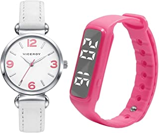 Pack Watch + Activity Bracelet Sweet VICEROY 461132-05 Girl Two-Tone Steel