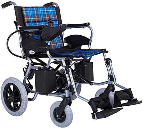 Sillas de ruedas eléctricas para adultos Silla de ruedas eléctrica Silla de ruedas, plegable y ligero 30.5Kg silla de ruedas eléctrica, 360¡Ã Joystick, Capacidad de peso 100 kg, 44 cm Anchura del asie