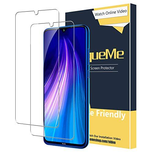 UniqueMe [2 Pack] Protector de Pantalla para Xiaomi Redmi Note 7 / Note 7 Pro/Note 8, Vidrio Templado [9H Dureza] HD Film Cristal Templado Garantía de Reemplazo de por Vida