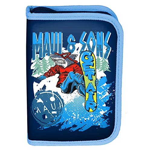 P A S O Maui & Sons - Bolsa de Viaje (22 Partes), diseño de surfistas, Color Azul Oscuro
