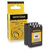 PATONA 2X Bateria Li-10B / Li-12B Compatible con Olympus mju 300 400 500 600 800 1000