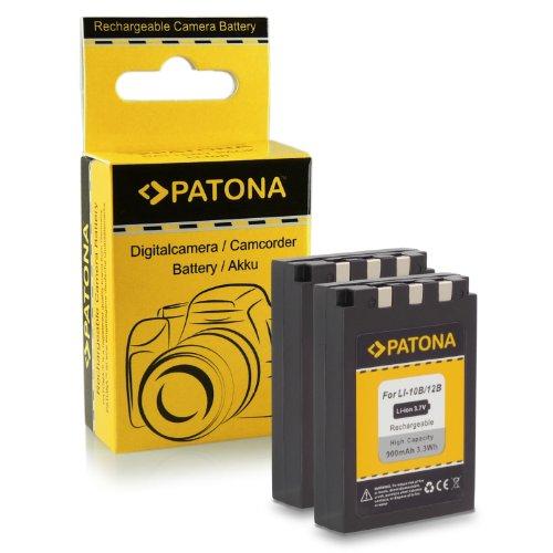 2x Batteria Li-10B / Li-12B per Olympus C-50 Zoom | C-60 Zoom | C-70 Zoom | C-470 Zoom | C-760 UltraZoom | C-765 UltraZoom | C-770 UltraZoom | C-5000 Zoom | C-7000 Zoom | D-590 Zoom | FE-200 | IR-500 | X-500 | µ 300 | µ 400 | µ 410 | µ 500 | µ 600 | µ 800 | µ 810 | µ 1000