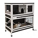 Indoor Lounge Small Pet Rabbit & Guinea Pig Cage Made From Spruce Wood - Set on two levels giving your pets...