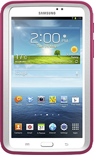 OtterBox DEFENDER SERIES Case for Samsung Galaxy Tab 3 7.0' (ONLY) - Retail Packaging - PAPAYA (WHITE/PEONY PINK)
