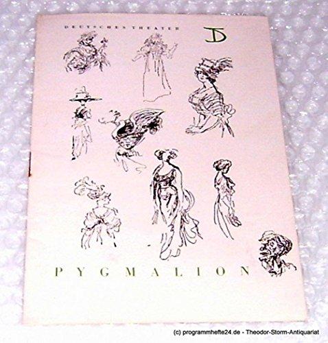Programmheft Pygmalion. Komödie von Bernard Shaw