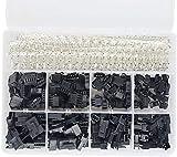 Voarge 560 Piezas 2,5 mm de Paso 2 3 4 5 Pines JST SM Conector Macho y Hembra Enchufe Adaptador, de Vivienda Conector Surtido Kit, Crimp Dip Kit