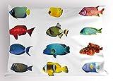 Lunarable Fish Pillow Sham, Tropical Fish Types...