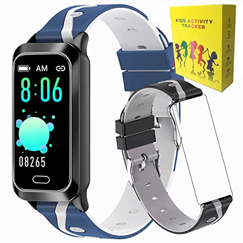 Activity Trackers Watch | 1 Extra Band | Kids Fitness Tracker Watch | Kids Smart Watches For Boys Girls Trackers Sports Sleep Health Monitor | Step Watch | Kids Activity Tracker Watch | Ace Kids