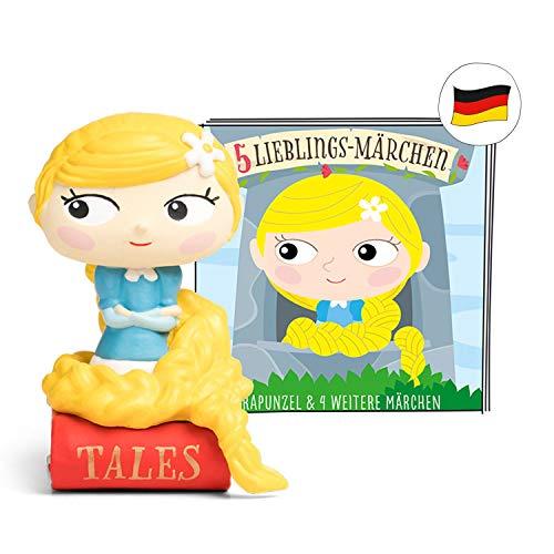 tonies Hörfiguren - 5 Lieblings Märchen Figur: Rapunzel, Froschköing, Hänsel und Gretel, der Wolf und die 7 Geißlein - für TONIEBOX - 43 Min. - DEUTSCH