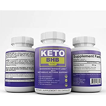 Keto BHB Real - Advanced Weight Loss with Metabolic Ketosis Support - 120 Capsules - 60 Day Supply