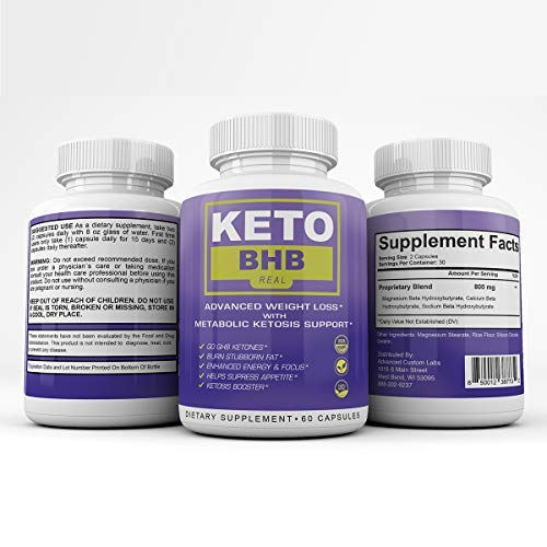Keto BHB Real - Advanced Weight Loss with Metabolic Ketosis Support - 180 Capsules - 90 Day Supply 1