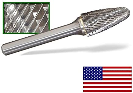 Dedeco 13106 Carbide Bur SK-3 90 degree Cone 1//4 x 3//8 x 3//16 Double-Cut