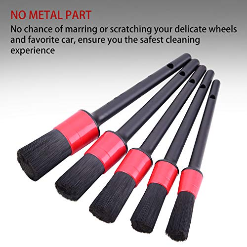 Fitosy Detailing Brush Set,6 Different Sizes Detail Brush for Car Cleaning,Soft Bristle Auto Detailing Brush Perfect for Automotive Cleaning Wheels,Dashboard,Interior,Exterior,Leather,Air Vents